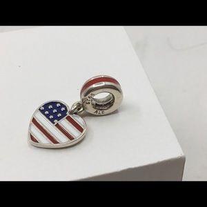 Pandora Heart USA Flag